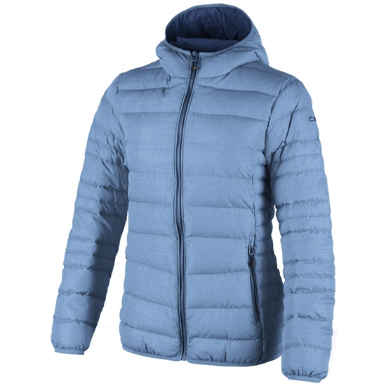 Campagnolo Fix Hood Down Jacket Girl - Blue Light Melange
