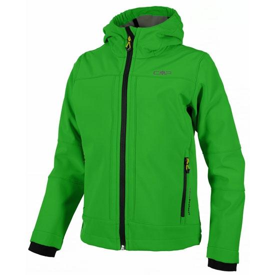 Campagnolo Softshell Fix Hood Jacket Boy - Verde/Negro