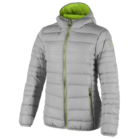 Campagnolo Fix Hood Down Jacket Girl - Grey Light Melange
