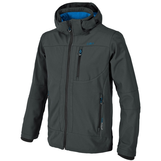 Campagnolo Softshell Zip Hood Jacket - Antracite Blue