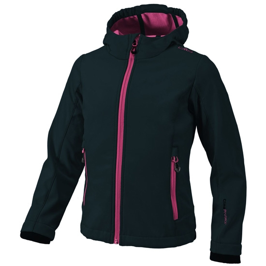 Campagnolo Softshell Jacket Girl - Nero/Pink