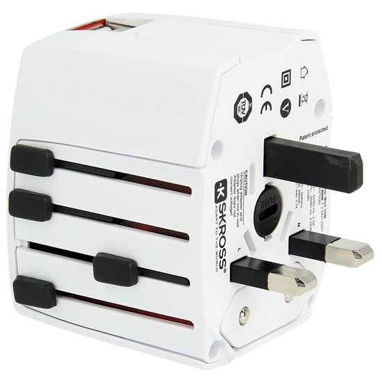 Lifeventure USB World Travel Adaptor - Photo of detail