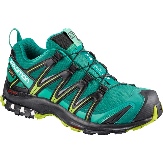 Salomon Xa Pro 3D GTX W - Deep Lake/Black/Lime Green