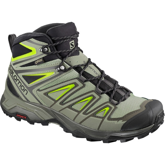 Salomon X Ultra 3 Mid GTX - Beluga/Shadow/Lime Green