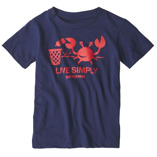Patagonia Baby Live Simply Organic T-Shirt - Classic Navy