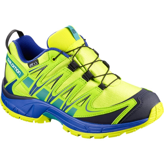 Salomon XA Pro 3D CSWp Jr - Acid Lime/Surf The Web