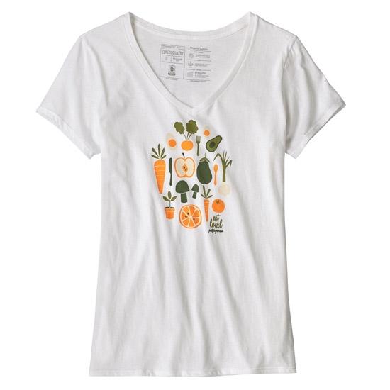 Patagonia Harvest Haul Organic V-Neck T-Shirt W - White