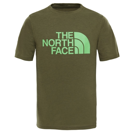 The North Face Reaxion Tee S/S Boy - Burnt Olive Green Heat