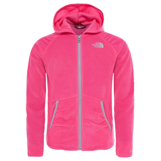 The North Face Mezzaluna Full Zip Hoodie Girl - Petticoat Pink