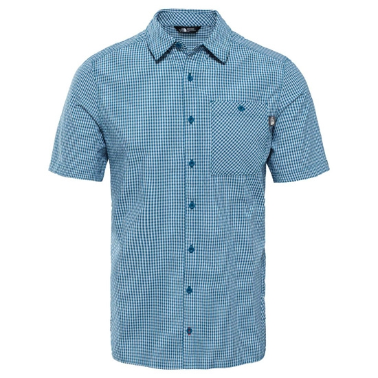 The North Face Hypress Shirt S/S - Blue Coral Plaid