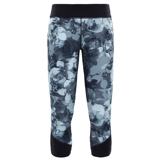 The North Face Pulse Crop W - Black Botanical Print