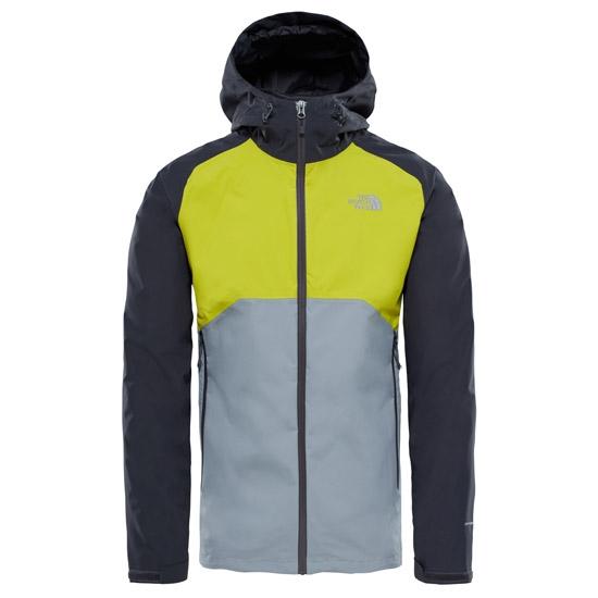 The North Face Stratos Jacket - Asphalt Grey/Citronelle Green/Mid Grey
