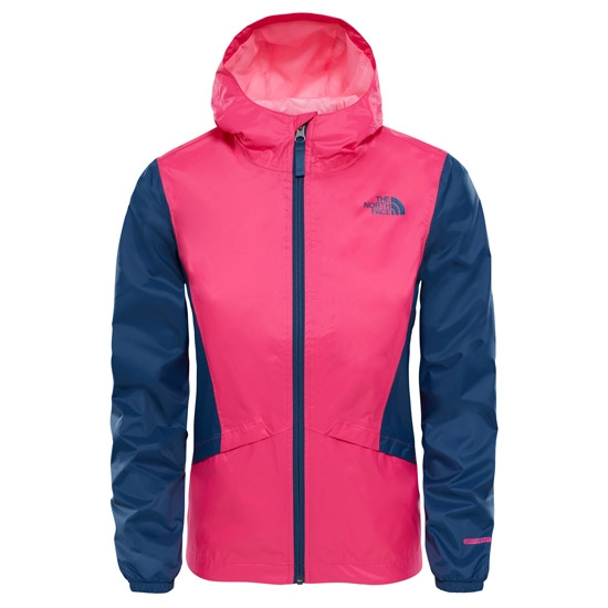 The North Face Zipline Rain Jacket Girl - Petticoat Pink/Blue Wing