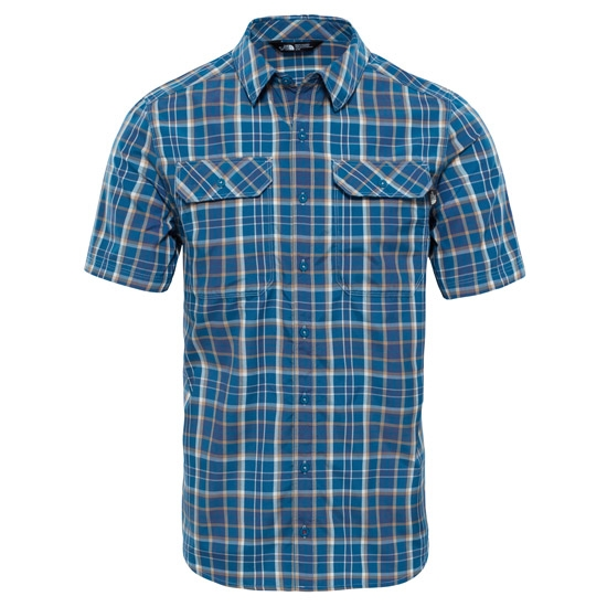 The North Face Pine Knot Shirt S/S - Shady Blue Plaid