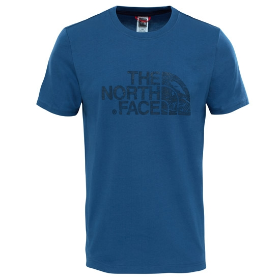 The North Face S/S Woodcut Dome Tee - Shady Blue