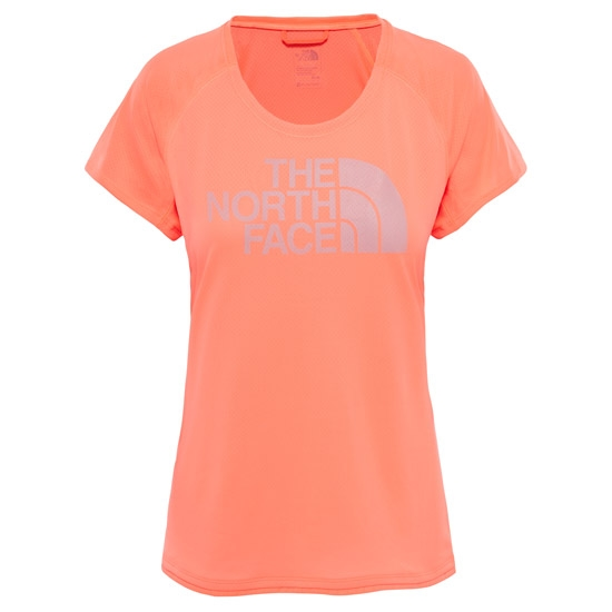 The North Face Flight BTN S/S W - Fiery Coral
