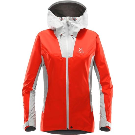 Haglöfs Kabi (K2) Jacket W - Stone Grey/Pop Red