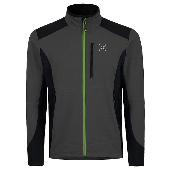 Montura Stretch Pro Jacket - Piombo/Verde Acido