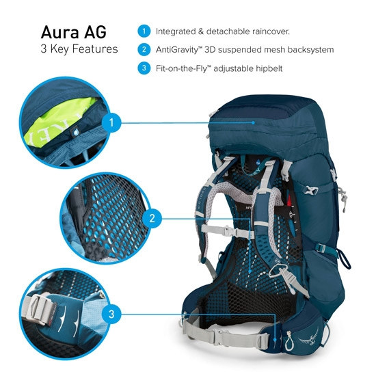 Osprey Aura AG 50 S W - Photo of detail