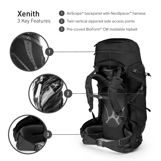 Osprey Xenith 88 L - Photo of detail