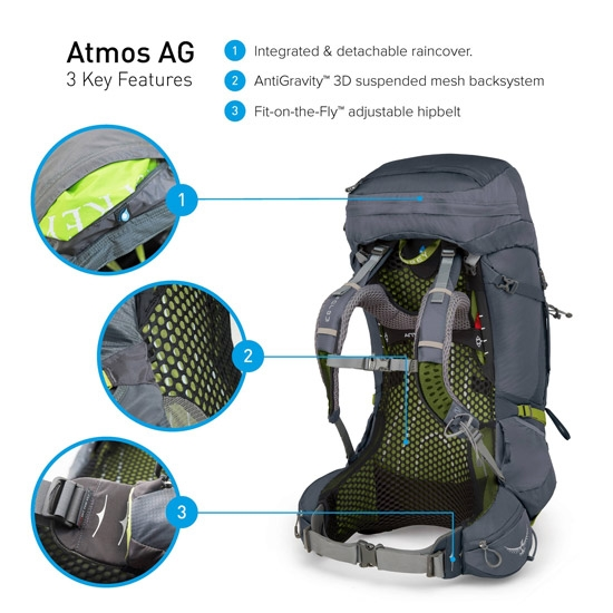 Osprey Atmos AG 65 L - Photo of detail
