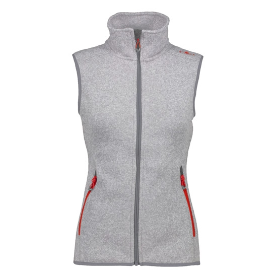 Campagnolo Knitted Vest W - Tortora/Bianco
