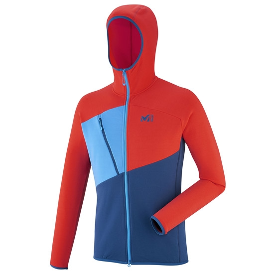 Millet Elevation Power Hoodie - Poseidon/Orange