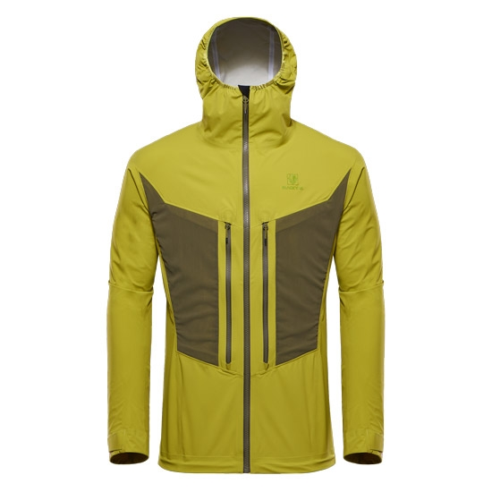 Black Yak Lightweight Stretch 3L Jacket - Golden Lime