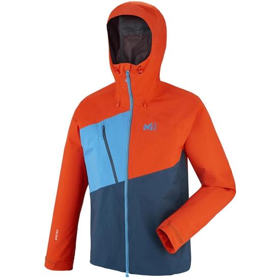 Millet Elevation One GTX Jacket - Poseidon/Orange