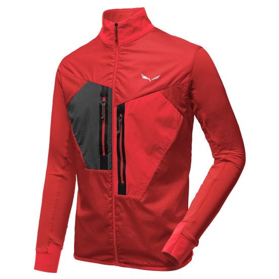 Salewa Pedroc Hybrid Polartec Jacket - Bergrot