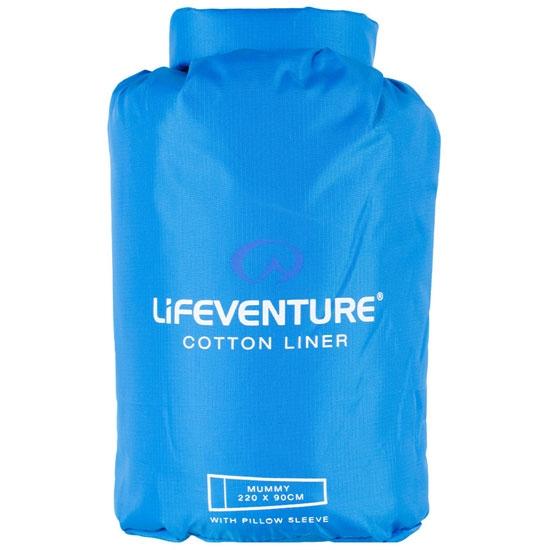 Lifeventure Cotton Sleeper Mummy 220x90 cm - Blue