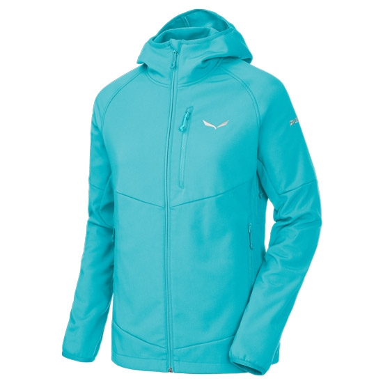 Salewa Puez Full Zip Hoody W - Capri Blue