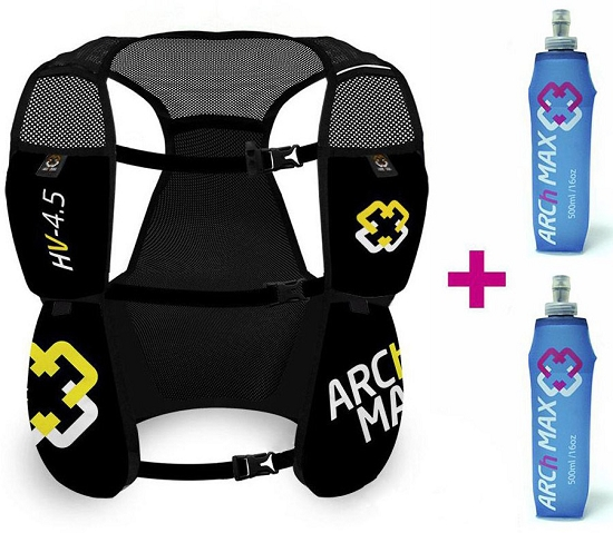 Arch Max Hydration Vest 4.5L 2xSF 500 ml - Black