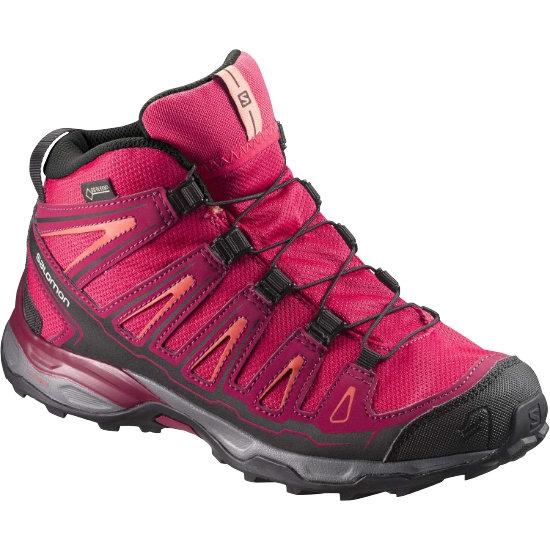 Salomon X-Ultra Mid Gtx Jr - Virtual Pink/Beet Red