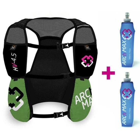 Arch Max Hydration Vest 4.5L 2xSF 500 ml - Green