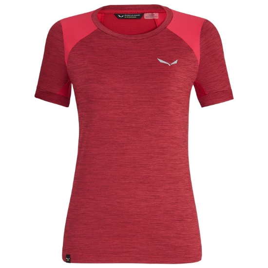Salewa Pedroc Hybrid S/S Tee W - Rose Red