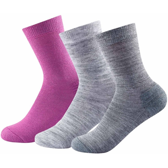 Devold Daily Medium W Sock Pack 3 - Anemone Mix