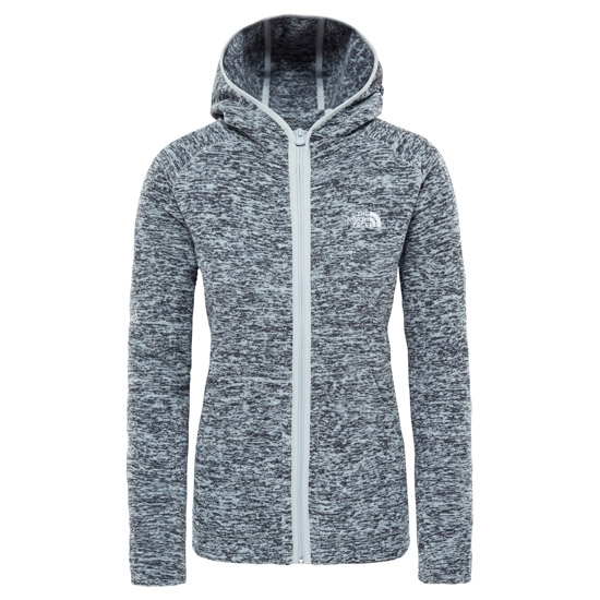 The North Face Nikster Full Zip Hoodie W - High Rise Grey/Black