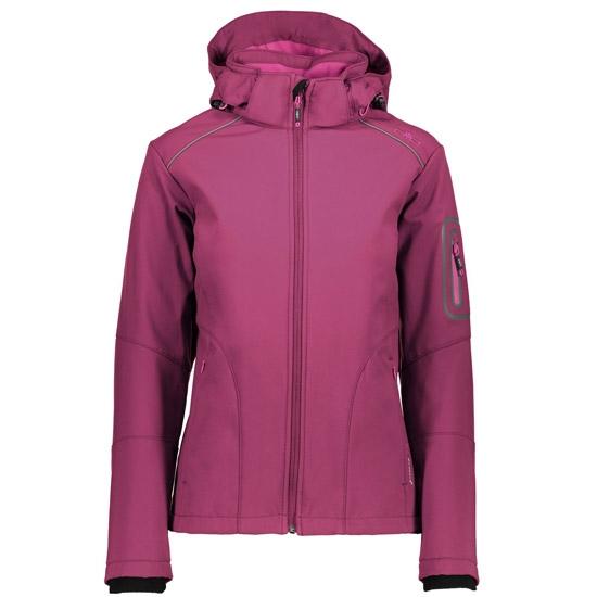 Campagnolo Softshell Zip Hood Jacket W - Borgogna