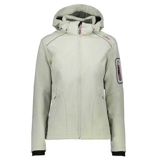 Campagnolo Softshell Zip Hood Jacket W - Salvia/Avocado