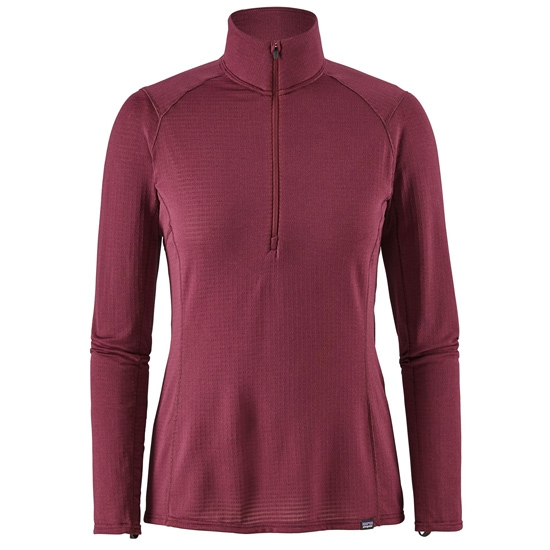 Patagonia Capilene Thermal Weight Zip neck W - Arrow Red/Dark Current