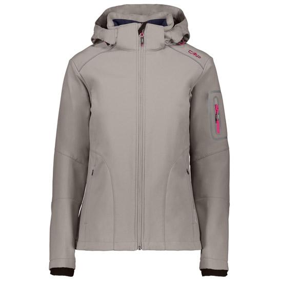 Campagnolo Softshell Zip Hood Jacket W - Tortora