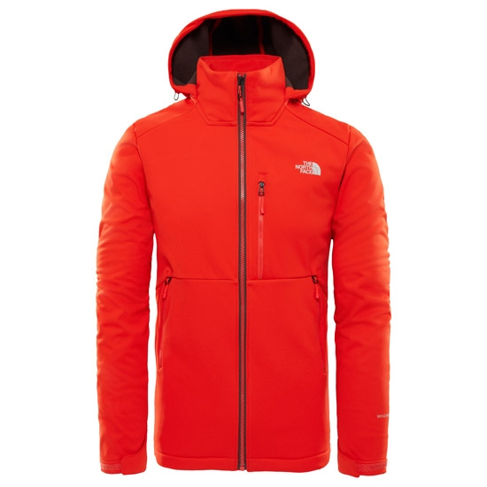 The North Face Kabru Softshell Hooded Jacket - Fiery Red