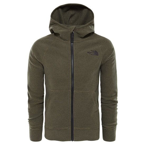 The North Face Glacier Full Zip Hoodie (Recycled) Boy - New Taupe