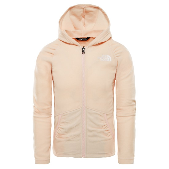 The North Face Mezzaluna Full Zip Hoodie Girl - Purdy Pink Stripe