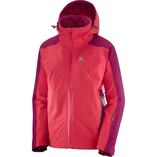 Salomon Brilliant Jacket W - Hibiscus/Cerise