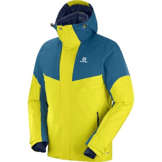 Salomon Icerocket Jacket - Sulphur Spring/Moroccan Blue