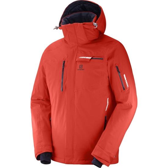 Fuxi double à, viens! viens! viens! Salomon Brilliant Jacket Fiery Red LC1002300/ 486030