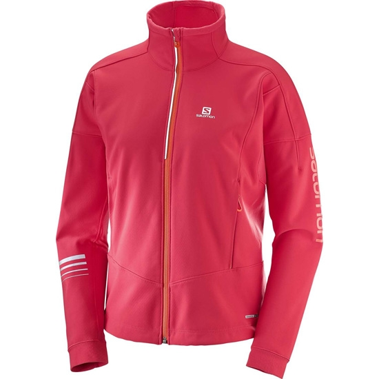 Salomon Lightning Warm Softshell Jacket W - Hibiscus