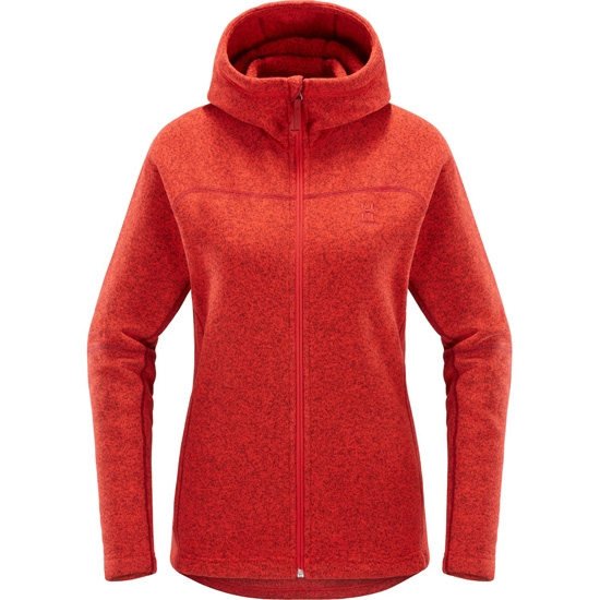 Haglöfs Swook Logo Hood W - Rich Red
